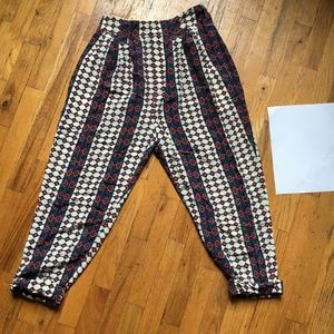Marc by Marc Jacobs 100% Silk High-Waisted Pants
